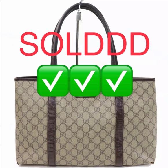 Gucci Handbags - 100% Authentic Gucci Tote Bag GG Browns PVC 700088
